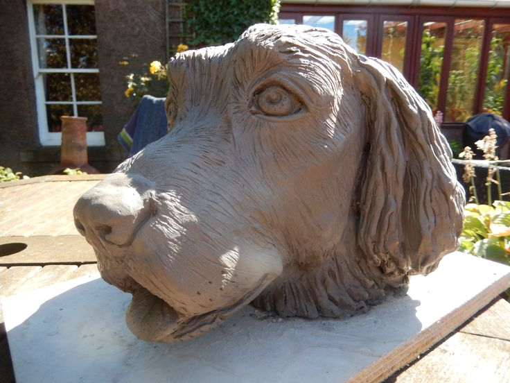 Bruno - my Springer spaniel created in clay