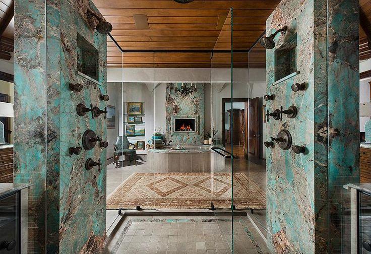 Amazonite Granite Interiors Stone Bathroom Granite