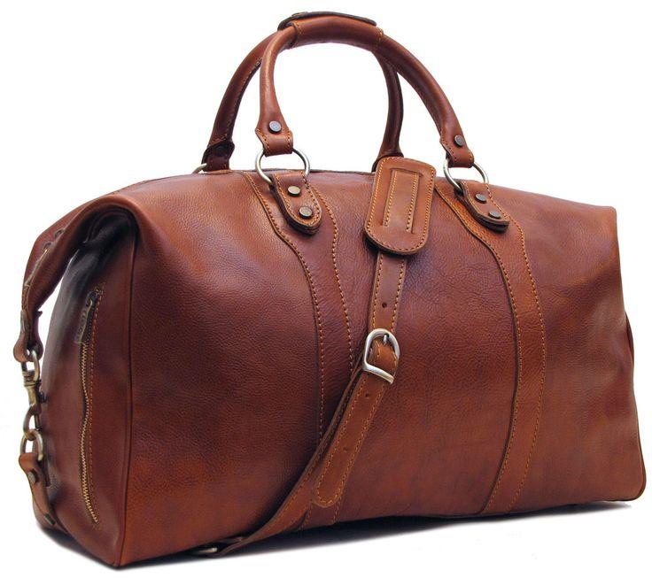 Roma Leather Travel Bag. #theolderthebetter
