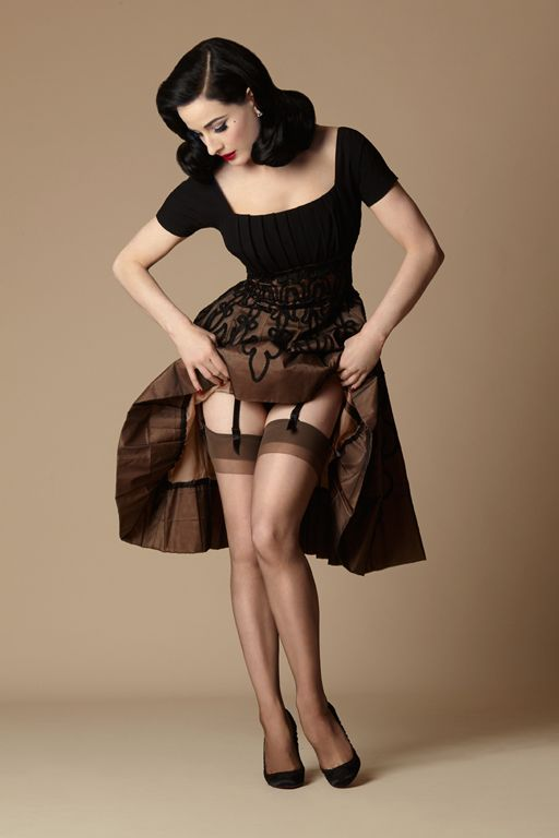Dita Von Teese Collection - Dita's Daytime Sheer stockings Secrets in Lace