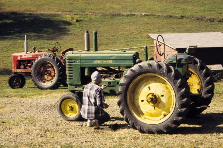 I remember my grandpa working on his tractors. He let me drive them sometimes.