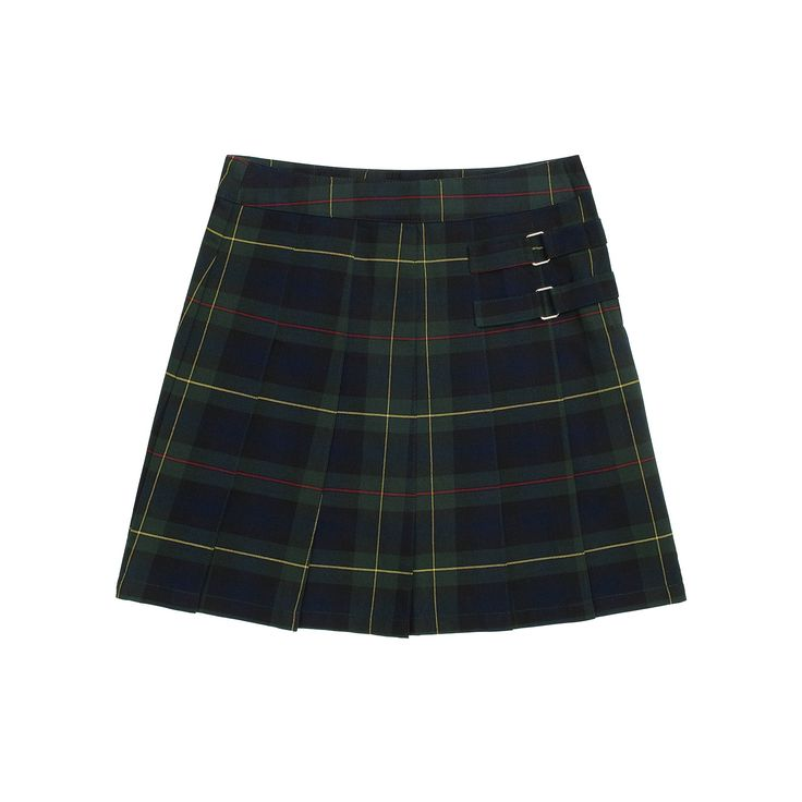 Girls 4-20 & Plus Size French Toast School Uniform Pleated Plaid Skort, Girl's, Size: 12 Plus, Green