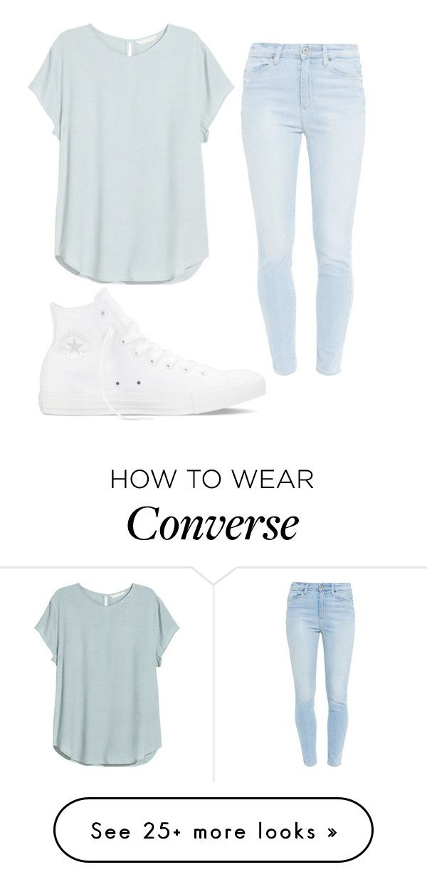 """Hi"" by aissa1026 on Polyvore featuring Paige Denim and Converse"