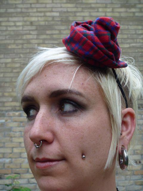 Tartan Rose Hat
