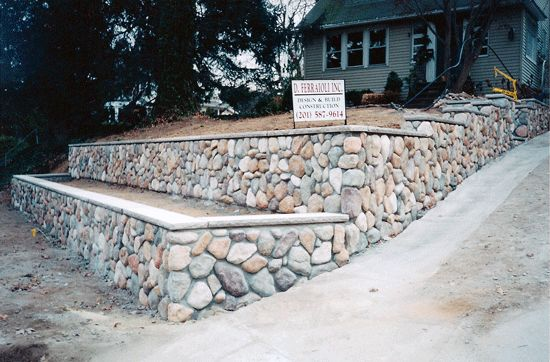 59 best stone images on pinterest home ideas log houses for Stone retaining wall design