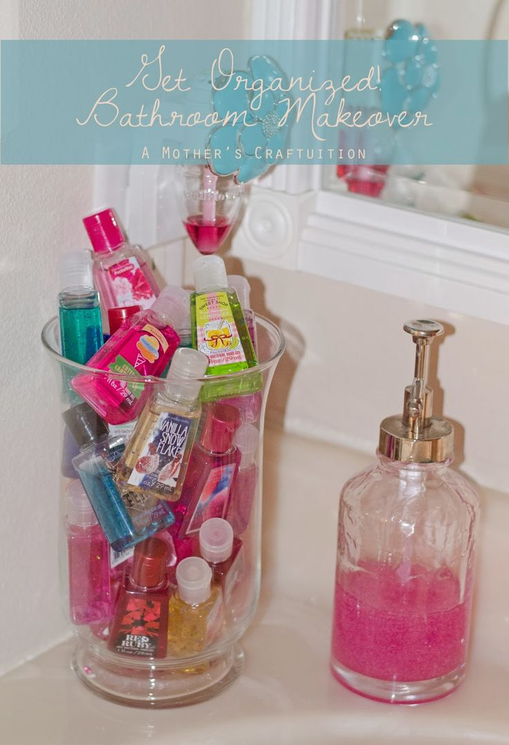 A Mother's Craftuition: Bathroom Makeover Reveal, organize, easy diy, bathroom for girls, ikea, inexpensive makeover