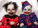 Scary Circus Characters - 10 Evil Clown Dolls (GALLERY)