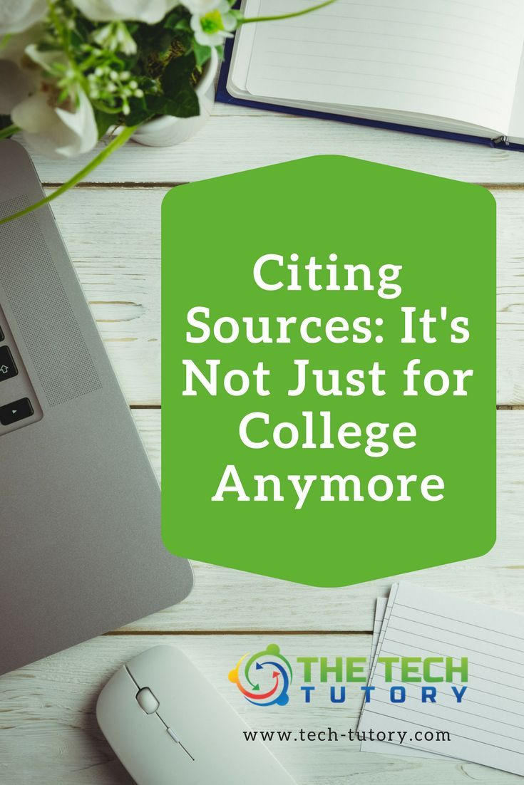Citing Sources: It's not just for college anymore #education #technology #elementary