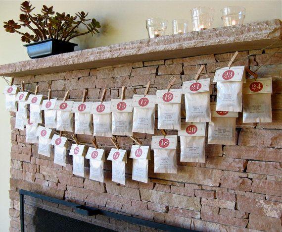 Tea Advent Calendar  24 Numbered Handmade Tea Bags  by ArtfulTea, $42.00