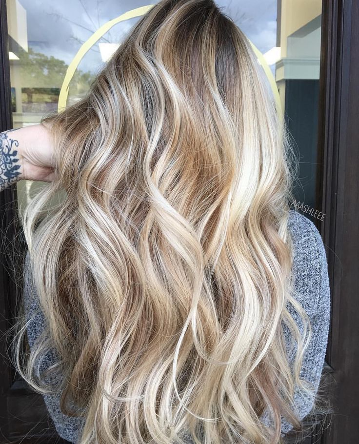 Blonde Highlights Baylage Hair Balayage In 2019 Haar