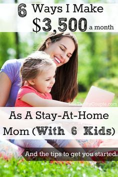 I love this! 5 of these ideas are an immediate income that you can start earning today and then one is a long-term, residual money maker! This is GREAT and doable for anyone, even us busy stay-at-home moms! Do you do any of these and what have you had success with! $3,500 for anyone is a great boost in income for a part-time gig! If you want to make money from home, then you have got to read this post and get ideas, motivation and inspiration!