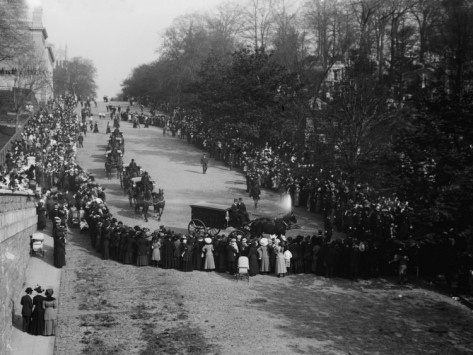 Funeral of John Jacob Astor IV, richest man aboard the Titanic  May 4th, 1912