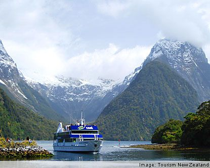 New Zealand is literally surrounded by water on all sides, and so many tourist activities often include taking advantage of that fact. Also, since New Zealand is not connected to any other landmasses, there are really only two ways to get here. You can fly in, or go by boat.