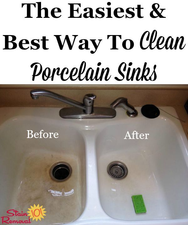 beautiful How To Clean Porcelain Kitchen Sink #5: Bar Keeperu0027s Friend is the easiest and best way to clean porcelain sinks  {on Stain
