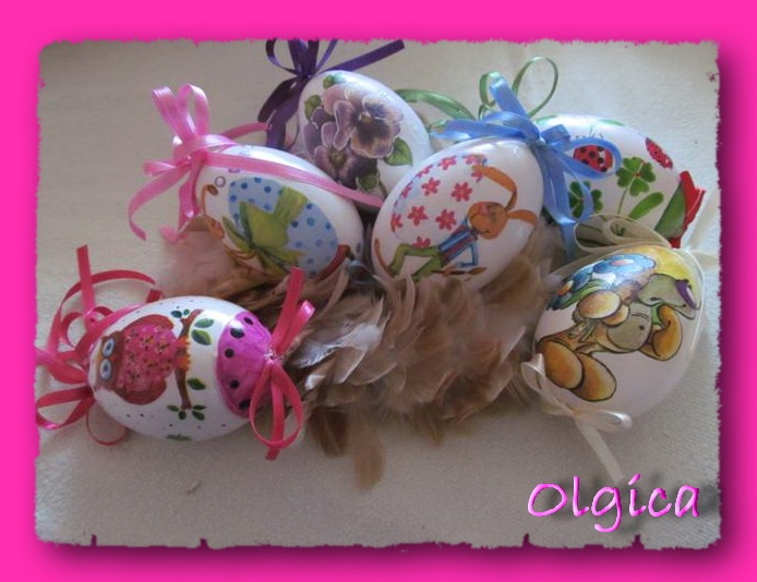 easter eggs, by Olgica