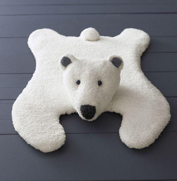 Modèle tapis ours jersey - Modèles gratuits - Phildar