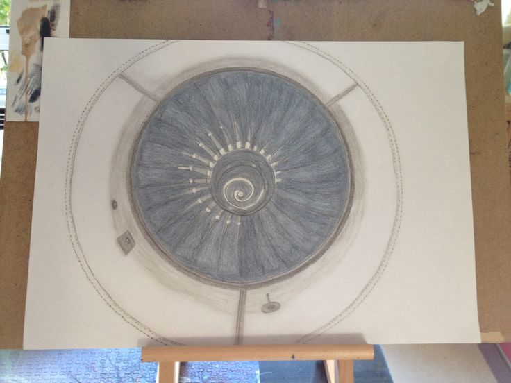 Airbus engine by Shirl in Pencil