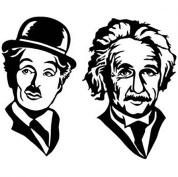Chaplin y Einstein (S)35 cm H x 30 cm W $45.000 (M)45 cm H x 35 cm W $65.000 (L)70 cm H x 40 cm W $100.000