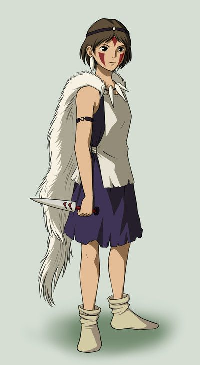 Princess Mononoke: Going to cosplay this eventually, and STOKED. Not 100% sure how I'm going to pull it off, though... ._.