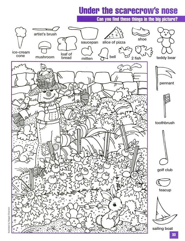hidden pictures coloring page highlights hidden picture find printable - Search And Find Pictures Printable