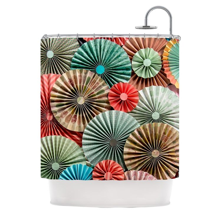 "Kess InHouse Heidi Jennings ""Sherbert"" Teal Brown Shower Curtain"