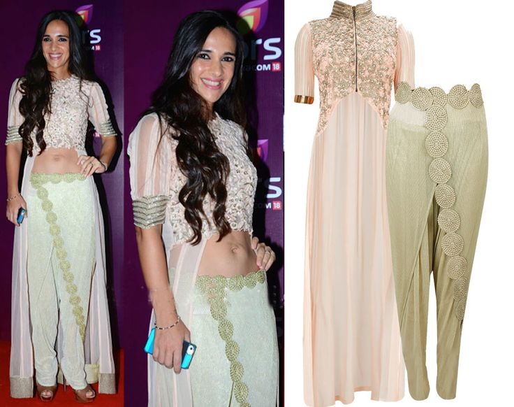 GET THIS LOOK- Tara Sharma Saluja looks flawless in an outfit by Ridhima Bhasin. Shop now: http://www.perniaspopupshop.com/designers/ridhima-bhasin #ridhimabhasin #celebritystyle #shopnow #perniaspopupshop