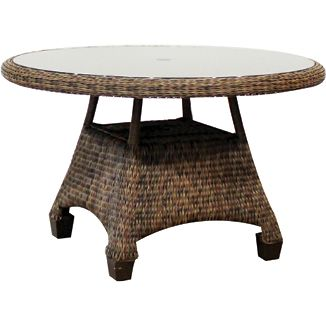 """Four Seasons Chat Table BY CASUALIFE D 45"""" W 45"""" H 24"""""""