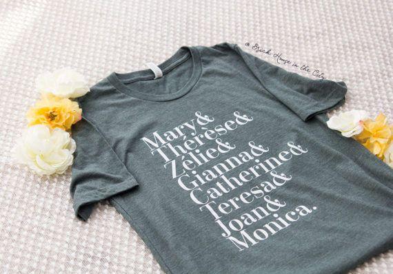 Female saint tee - Catholic shirt, catholic apparel, Catholic gifts, catholic gifts for her