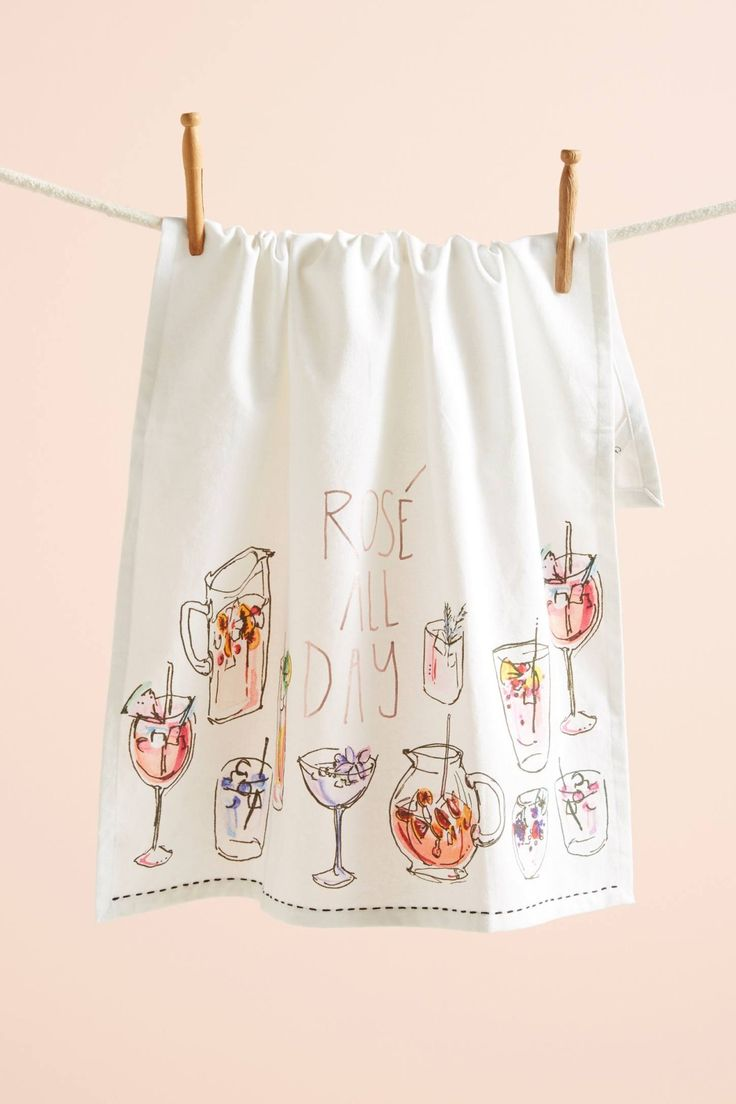 Rosé All Day Dishtowel
