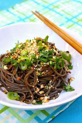cold spicy soba noodles