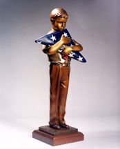 "Field of Blue  George Lundeen  Bronze, Open Edition, 24"" x 10"" x 7"""