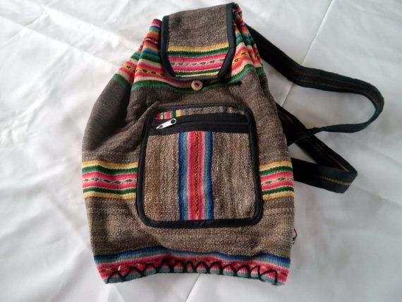MULTICOLORED Alpaca Backpack
