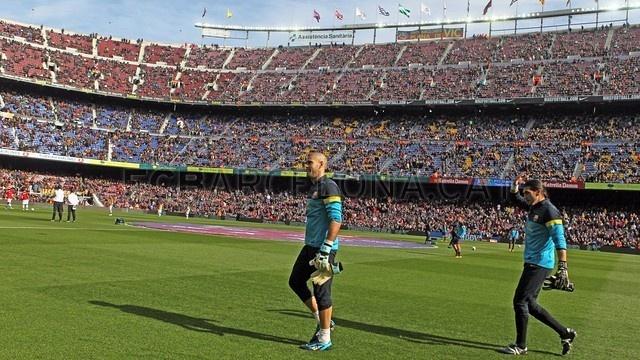 Valdés & Pinto, FC Barcelona | FC Barcelona 6-1 Getafe. [10.02.13] FOTO: MIGUEL RUIZ - FCB