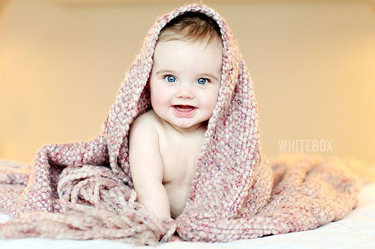 Cute baby picture idea w/ blanket...he has plenty of those already