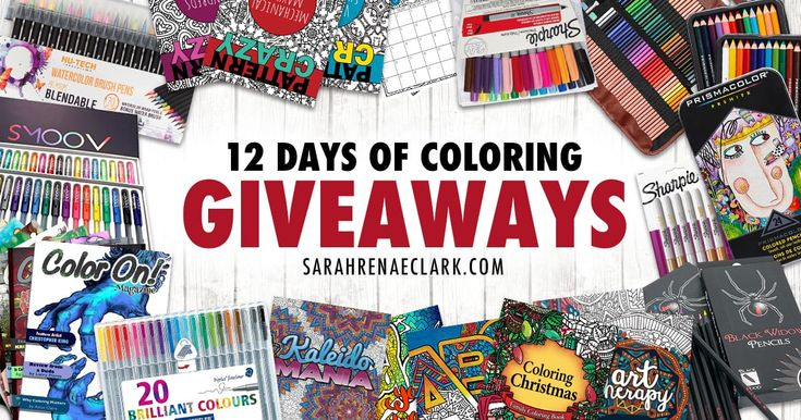 Win a new prize every day! Over $300 in prizes to be given away, including Prismacolor, Sharpie, Staedtler, Color On! Magazine, Smoov Products and more!