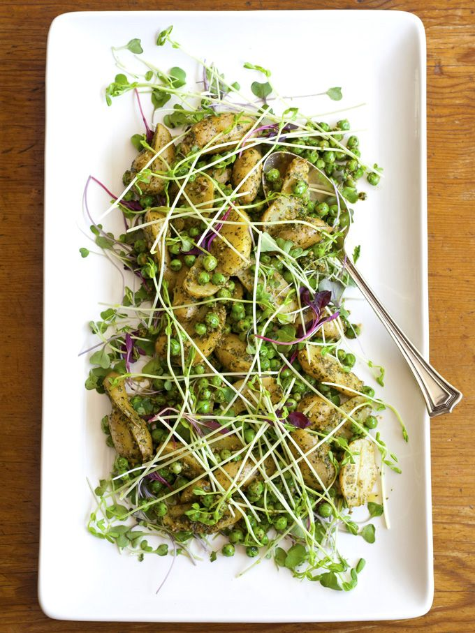 Minted Pea & Potato Salad by bijoux: The recipe card link is on the upper right of the page. #Salad #Peas #Potato #Mint #bijoux