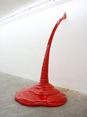 © Kristof Kintera, courtesy galerie schleicher+lange, Paris  'Red is coming', 2007, polyurethan, 300 x 170 x 150 cm