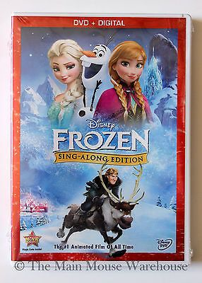 Disney Frozen Limited Sing Along Edition DVD & Digital English Spanish & French