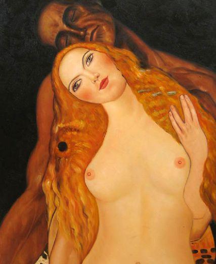 Klimt - Adam and Eve