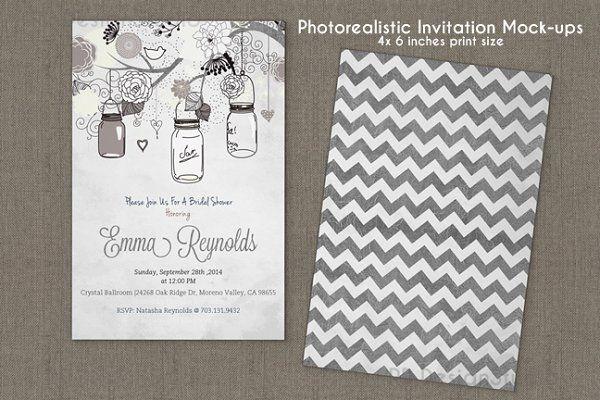 4x6 Inches Invitation Card Mockup V2 Print Templates Invitation Cards Mockup Free Psd