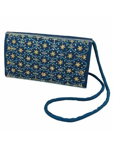 Bolsos de embrague para mujeres tela de seda bordado a mano: Amazon.es: Juguetes y juegos