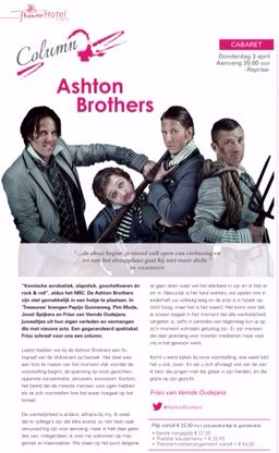 Ashton Brothers #theater