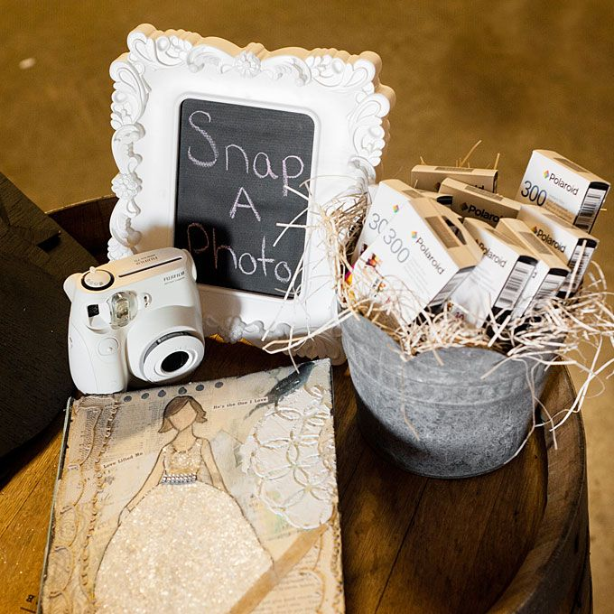 DIY Polaroid picture wedding guestbook. I WANT to do this!!! or have them sign the pics and put them on a canvas!