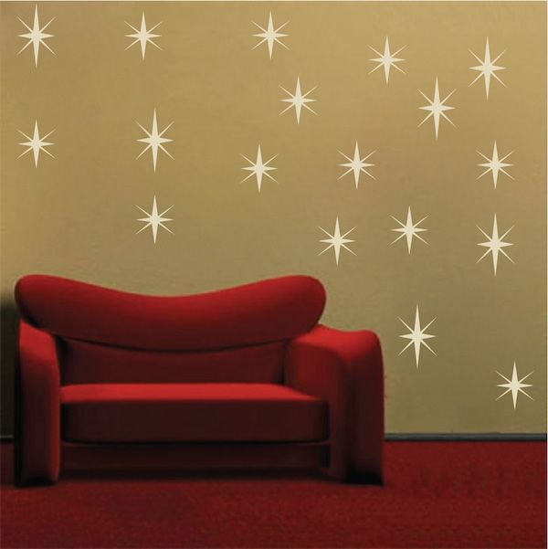 Sparkly star wall decals star wall wall decals and walls for Star wall decals