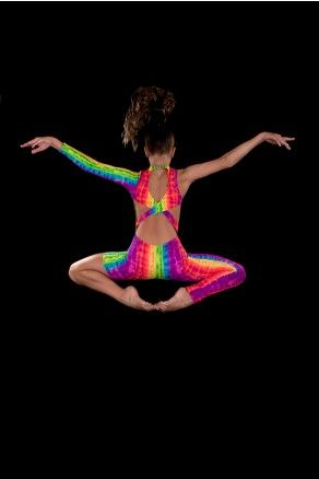 $59 Contemporary Unitard - Imagine - Acrobat Costumes, Dance Costumes, Rainbow. Stage Boutique www.stageboutique.com.au