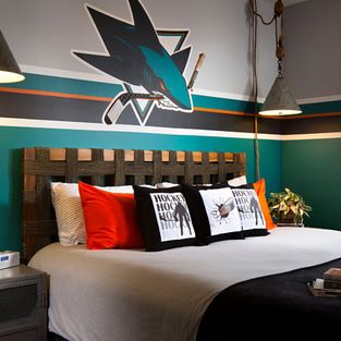 Boys Hockey Themed Rooms Design Ideas, Pictures, Remodel, And Decor