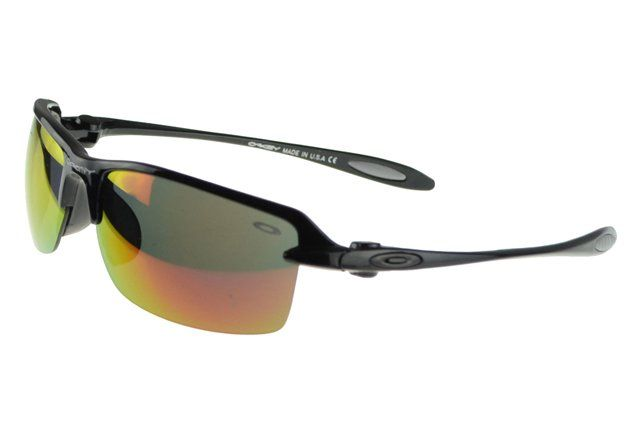 Wholesale Cheap Oakley Commit Sunglasses Black Frame Colored Lens#Oakley Sunglasses