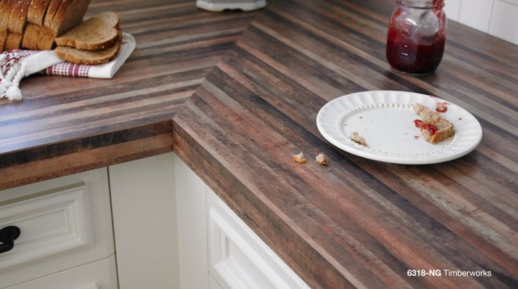 Timberworks Formica® Laminate will add unique beauty to your kitchen countertops. #formicabrand