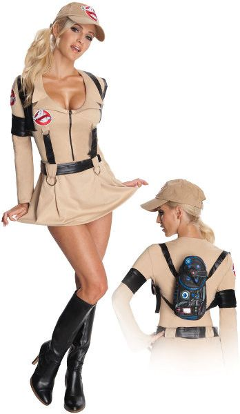 Ghostbusters Sexy Adult Costume | (Small)