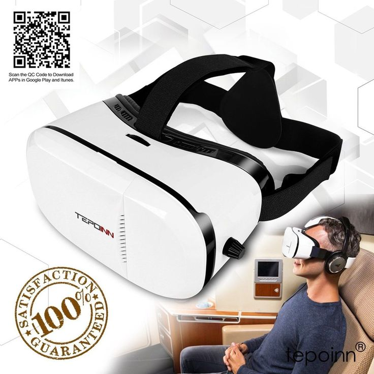 (New Version) 3D VR Glasses Tepoinn 3D Virtual Reality Headset VR Box 4.0-6.0...